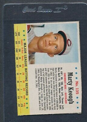 1963 Post Cereal #135 Marty Keough Reds EX *771