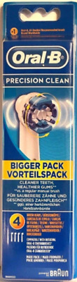 Braun Oral-B PRECISION CLEAN Tooth Brush Heads 3 x 4 Pack. NEW GENUINE SEALED (S