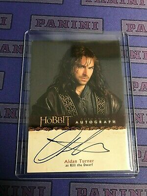 2013 Cryptozoic The Hobbit An Unexpected Journey Auto Autograph AIDAN TUNER A8