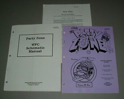 Bally Party Zone Manuals and Ammendment - Original