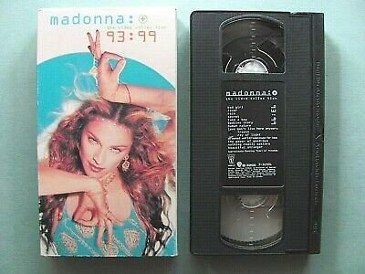 Madonna 93:99 Video Collection ~ 1999 VHS Movie Cassette WORKS Music Fever Human