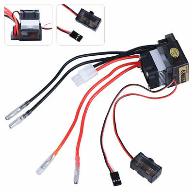 KF_ Double Way 320A ESC Brush Motor Speed Controller And Fan For RC Car Boat M