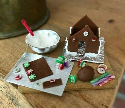 Dollhouse Miniature Gingerbread House in the Making!!!  IGMA Artisan
