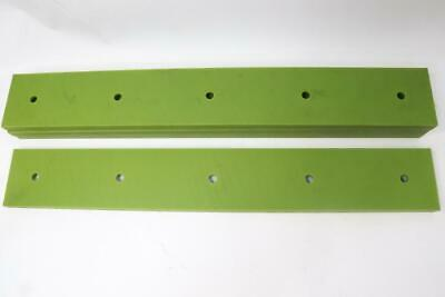 """Qty 4 Green HDPE 3/4"""" Thk x 4"""" Wide x 28' Long Drilled"""