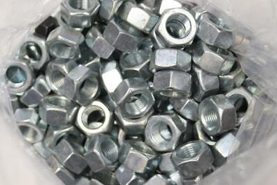 "200 Pack Fastenal 36162 Zinc Finish Grade A Finished Hex Nut, 9/16""-18"
