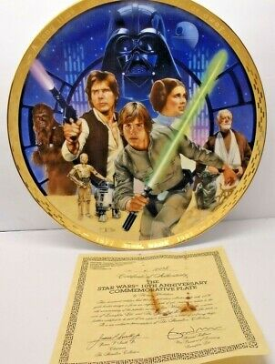 Star Wars Hamilton Collection 10th Anniversary Porcelain Collectors Plate 1988