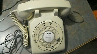 Vintage Bell System Rotary Dial Telephone Western Electric 500 Beige Desk Phone