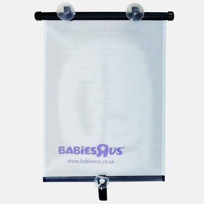 """Babies R Us Deluxe Roller Shade 2 Pack  14"""" Wide Car Shade #120216Wy (New)"""