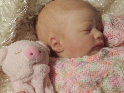 Sweet Reborn baby Girl*Sleeping Ashley*Custom Hand Painted*Realistic Details