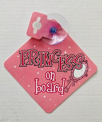 Princess On Board Decall Car Sign Pink