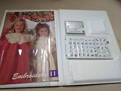 Husqvarna Viking Embroidery 11 Card Cassette Booklet #11 Sweden Free Shipping
