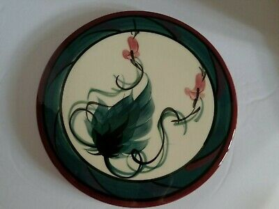 Gail Pittman Red Grapevine Trivet Hand Painted Signed Vintage Rare