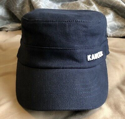 edcebb17 Kangol NEW With Tags Cotton Twill Army Hat Navy S/M Cap Flexfit Army  AUTHENTIC