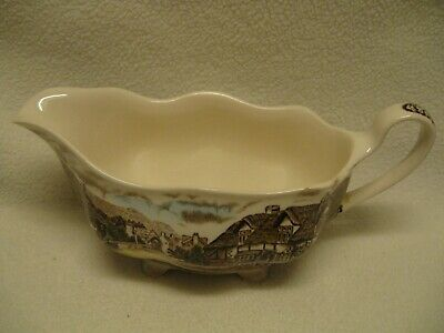 Johnson Brothers Olde England Countryside Multicolor Gravy Boat in VGUC