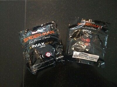 Spider-Man Far From Home Amc Imax Figure - Brand New Sealed (Lot Of 2)