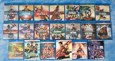Marvel Complete Blu Ray Collection, 19 DISNEY FILMS RELEASED NEW AUTHENTIC