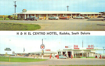 """/""""Cowhouse Motor Hotel/"""" Old Cars Vintage Chrome Postcard Killeen TX"""