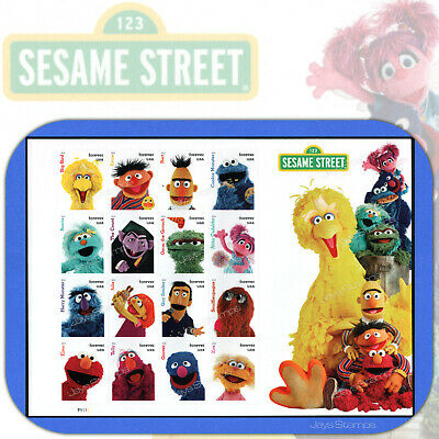 2019  SESAME STREET  Souvenir Sheet of 16  USPS Forever®  MINT Stamps  #5394 a-p