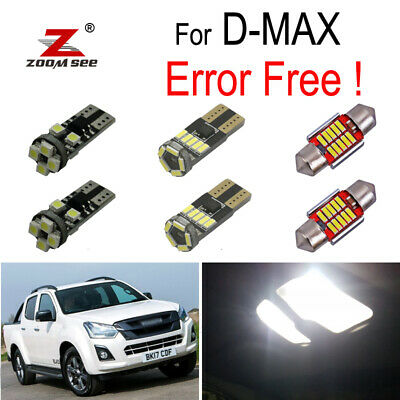 6x LED interior dome bulb plate light kit for Isuzu D-MAX D MAX Dmax I II 02-19
