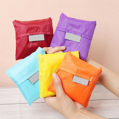 5pcs Reusable Foldable Eco Friendly Travel Shopping Tote Grocery Bag Mixed Color
