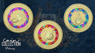 Australian $2 Coin Set (3 Coins) POSSUM MAGIC - 2017