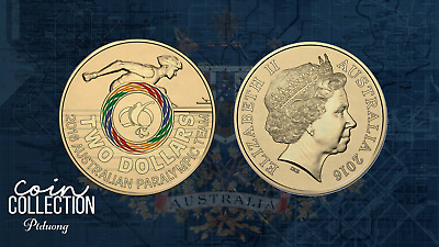2016 Paralympics Olympic $2 Coin Australian Two Dollars