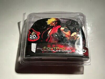 Ken Street Fighter IV Ryu Fight Pad Controller Playstation 3 PS3 20th 2.4Ghz