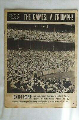 Olympic Games Collectable 1956 Melbourne Vintage PIX 30 Page Olympic Supplement
