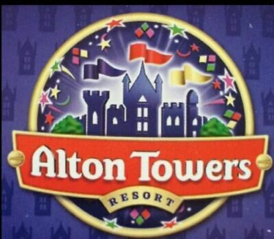 2 tickets to Alton Towers Sunday 18th August e-tickets school holidays