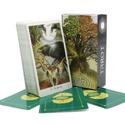 78 Mysterious Full English Nature Tarot Deck Animal Playing Game Cards With Bag