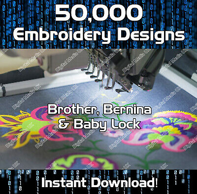 50,000 Brother, Baby Lock, Machine Embroidery design files PES - download