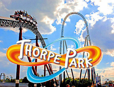 2 tickets to Thorpe Park Thursday 1st August e-tickets school holidays