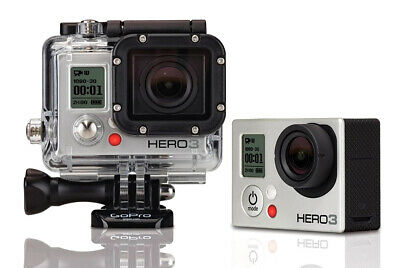 GoPro Hero 3 + Silver Edition Camera 64GB W/ Extreme Sports Bundle & Cables