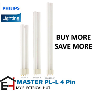 3x 55w PHILIPS MASTER PLL 4 PIN 2G11 830 CFL FLUORESCENT ENERGY SAVER LAMP