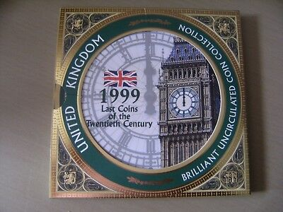 1999 United Kingdom Uncirculated 8 coin set including Rugby World Cup £2 (New)