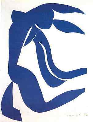 Henri Matisse Blue Nude With Hair In The Wind A3 Photo Print