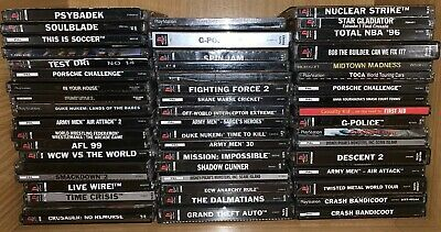 Sony Playstation 1 Games -Genuine- Pick Your Title - Pal - Free Postage