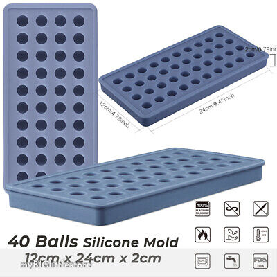 40 x small round ball mold embed silicone gumball soap mould * FAST Sydney Post