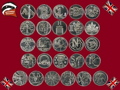 UK Coin Cheapest 10p Ten Pence Alphabet A-Z 2018 Royal Mint Choose Your Coin