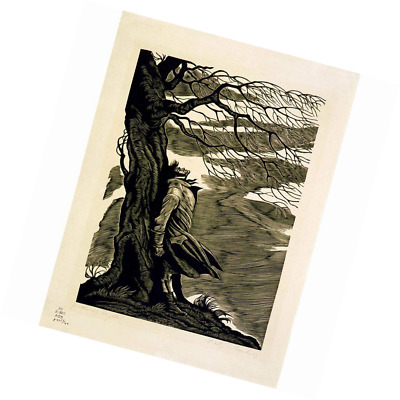 PAINTINGS HEATHCLIFF WUTHERING HEIGHTS BRONTE BLACK WHITE POSTERPRINT BB8129B