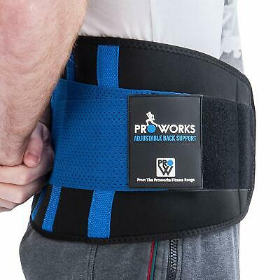 Proworks Lower Back Support Belt Lumbar Brace Exercise Sports Spine Aid Relief