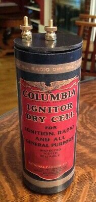 Antique Refillable Columbia Ignitor Dry Cell Battery Telephone, Radio, Lantern