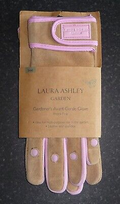 Brand New Ladies Laura Ashley Avante-Garde Leather Gardening Gloves Small Pink