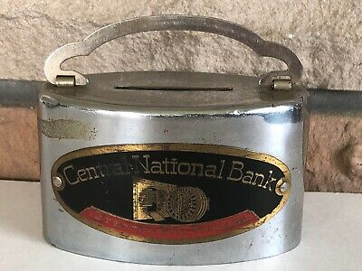 Vintage Continental Illinois National Bank of Chicago coin Bank