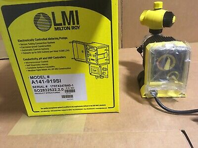 LMI Chemical Metering Pump A141-919SI .5 GPH 250 psi Acrylic/PVDF Manual Control