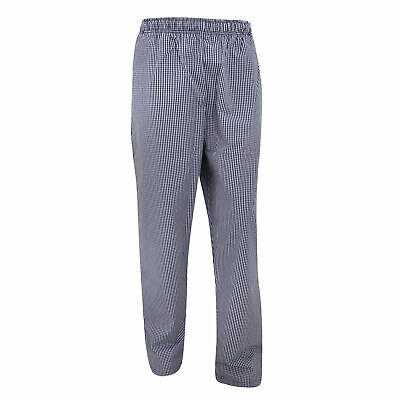 Dennys Unisex Blue/White Check Fully Elasticated Trouser / Chefswear (BC4319)