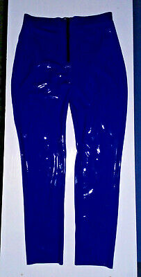 Latexkleidung Hose blau XL RV unisex gender rubber