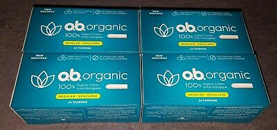 4 Packungen O.b. Organic Tampons Normal,24 Stk. pro Packung, OVP