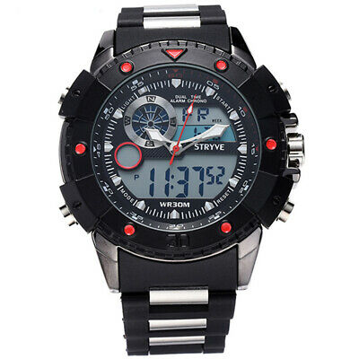 Mens Watch Dive 30m Digital Military Watches Men's Sports Casual Electronics