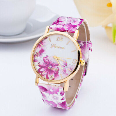 Fashion Geneva Women's Watch Print Belt Watch